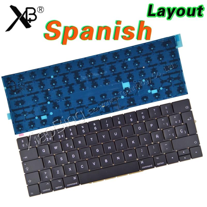 New A1707 Keyboard for Macbook Pro Retina 15'' A1707 Spanish Spain Sp Keyboard Backlight Backlit EMC3072 EMC3162 2016 2017Year цена