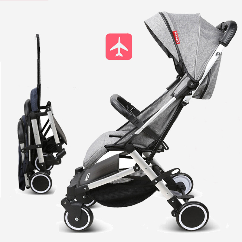 Baby stroller can be reclining to sit four-wheel shock absorber stroller folding high landscape baby strollerBaby stroller can be reclining to sit four-wheel shock absorber stroller folding high landscape baby stroller