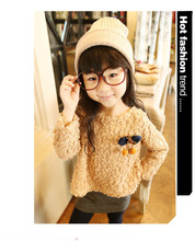Venta caliente del envío gratis chica moda otoño invierno de ropa de manga larga espesar vestido caliente