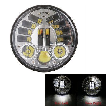 """5.75"""" LED Motorcycle Adjustive Headlight for Indian Scout 5-3/4inch LED Sensitive Headlamp Replacement For Motorcycle Dyna"""