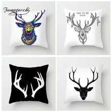 Fuwatacchi Nordic Animal Cushion Cover Ethnic Style Deer  Pillow For Decor Sofa Chair Decorative Pillowcases