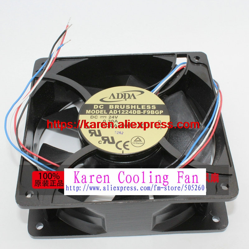 New Original ADDA AD1224DB-F9BGP DC24V 0.30A 120*120*38MM 12CM aluminum frame large air volume Inverter cooling fan триммер vitek vt 2545