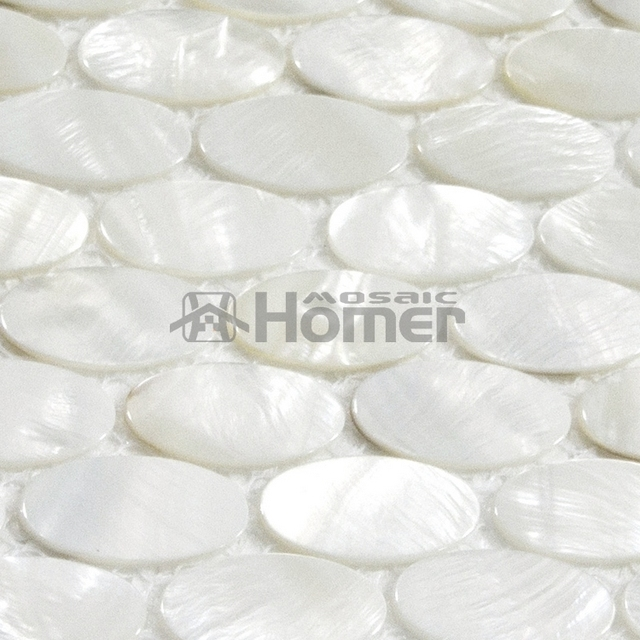 Free Shipping!! White Mother Of Pearl Tiles Oval Mosaic For Wall Mosaic  Tiles Oval Part 53