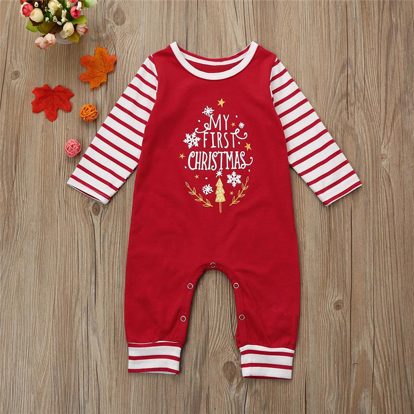 Christmas Clothes Babys Clothes Newborn Infant Baby Boy Girl Letter Print Long Sleeve Jumpsuit Romper Clothes Baby Romper JY16#F winter baby romper newborn boy girl costume baby clothes unisex long sleeve romper newborn jumpsuit