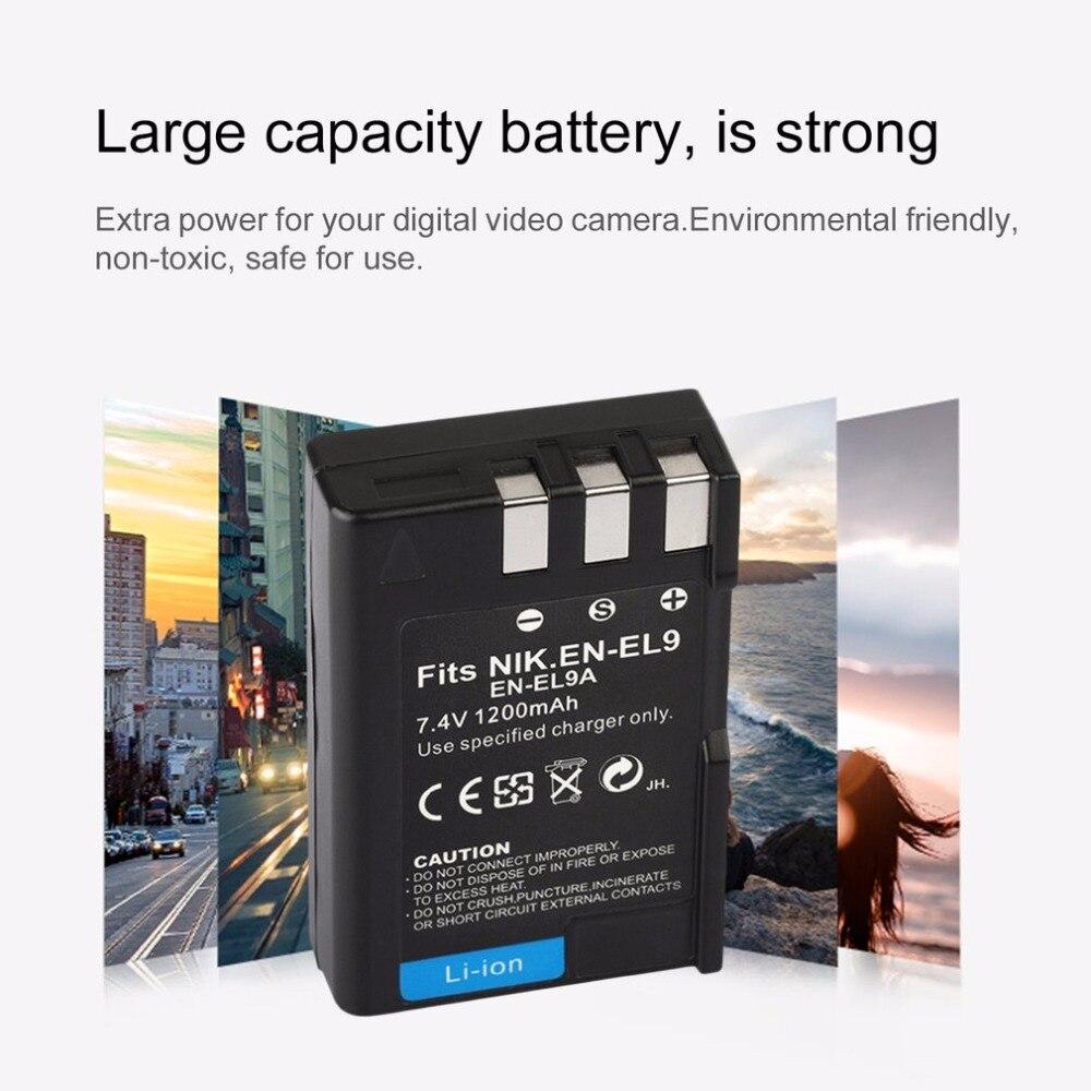 Bateria para Nikon en-el9 d40 d60 d3000 d5000 d-40 60 3000
