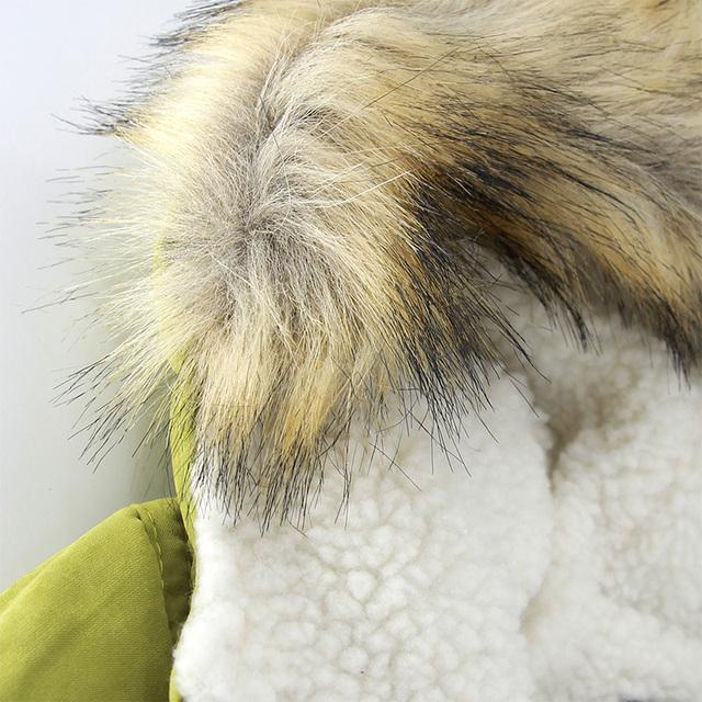 Autumn Winter children jackets Girls Boys Coats Hooded Faux Fur Collar Kids Outerwear 10T Cotton Padded Baby Girl Boy Snowsuit