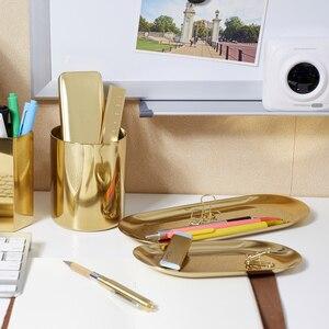 Image 5 - (ET) plate de papelería simplicidad del viajero. Electrochapado de acero inoxidable dorado. Muy bonito retro la disposición de tb