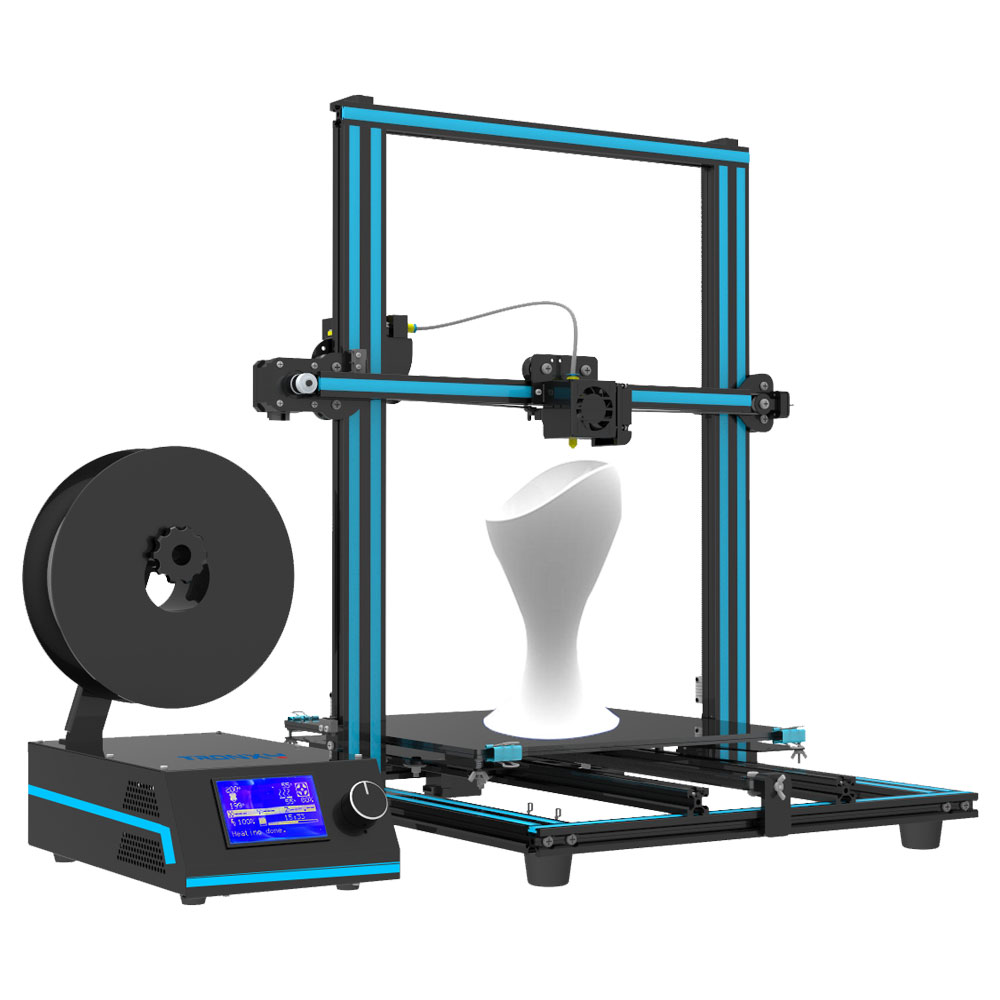 Fast assembly Tronxy New Model X3S 3D Printer Aluminium profile D type wheels 12864 LCD Large printing size 330x330x420mm flsun 3d printer big pulley kossel 3d printer with one roll filament sd card fast shipping