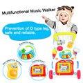 Высокое Качество Ходунки Multifuctional Малышей Тележка Sit-на-Stand ABS Музыкальный Ходок с Регулируемым Винтом