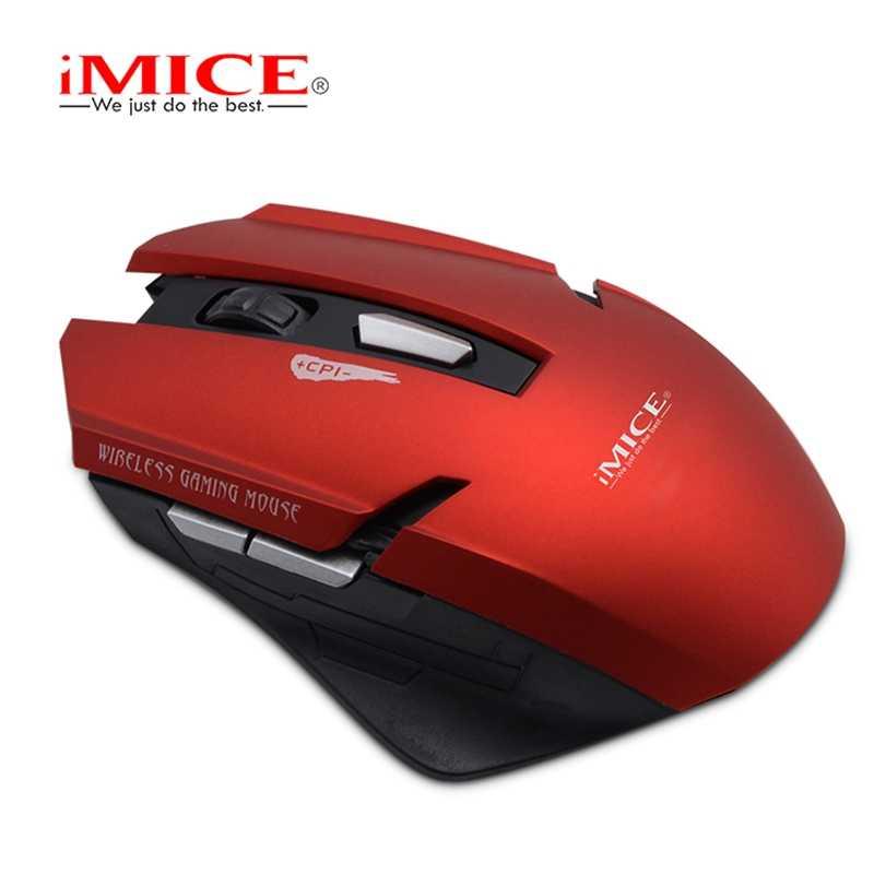 Imice 2,4G ratón inalámbrico 6 teclas 1600 DPI ratón de juego silencioso óptico ratones con USB de 2,4G receptor para HPC/ordenador
