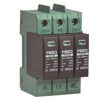 FEEO SPD DC 3 P 1000 V 20KA ~ 40KA TUV & CE din-рейка Солнечная наружная защита питания защитное устройство Защита от перенапряжения