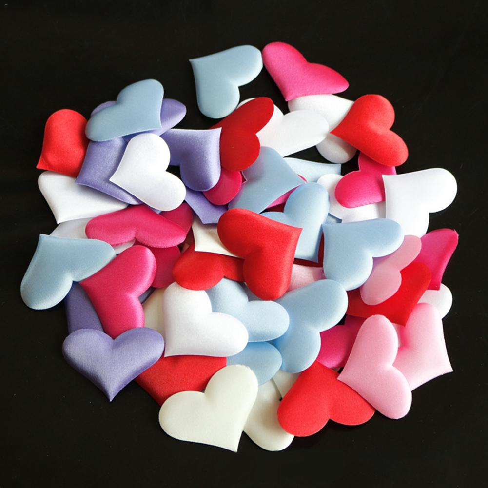 And Children Special Section 100pcs/bag 2cm Heart Shaped Petals Wedding Decoration Bride Throwing Flowers Bridal Chamber Married Table Bed Decor Party Supply Suitable For Men Women