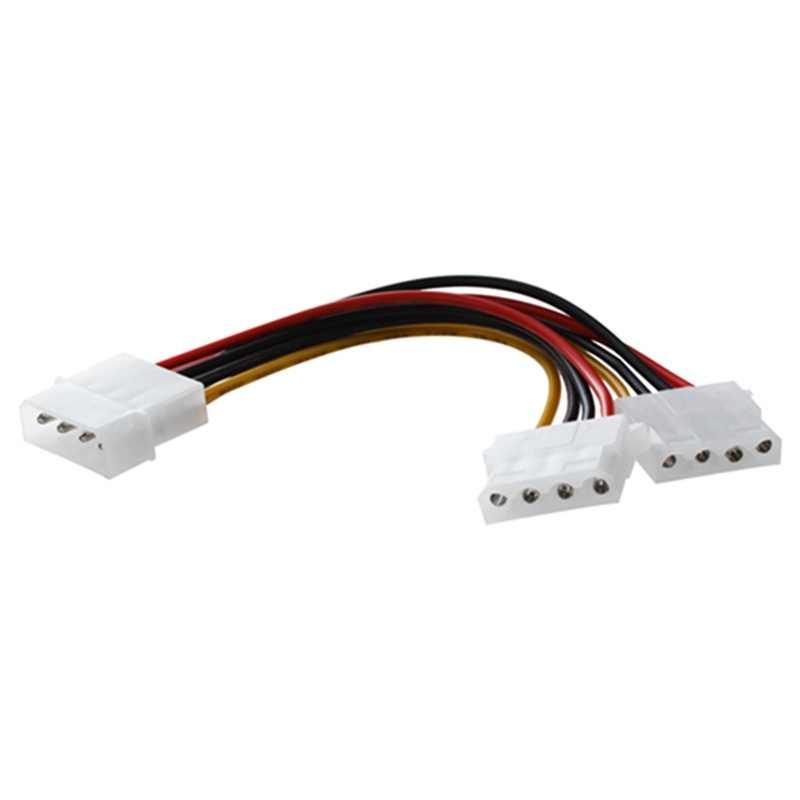 Полный компьютер Molex 6 дюймов 4-контактный источник питания Y сплиттер кабель, 1 папа до 2 мама