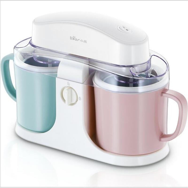 цена на 220V Fully-Automatic Fruit Ice Cream Maker Double Barrel Ice Cream Machine Children DIY Ice Cream Machine For Gift Kitchen Tool