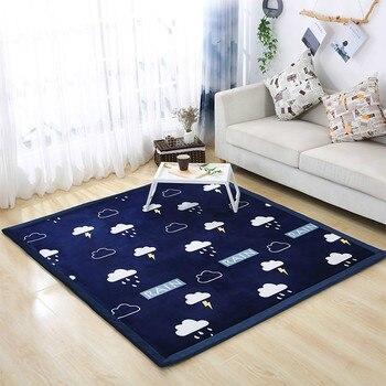 2cm Thick Cartoon Tatami Baby Carpet Coral Velvet Bedroom Carpet Children Climbed Playmat Lvingroom Baby Rug Large Tapete Custom