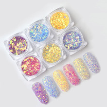 Nail Glitter 1g/Box Champagne Nail Glitter Powder Sequins Mixed Nail Sparkles Shiny Makeup Glitter Dust Nail Art Decoration four angle stars shape nail glitter sequins for nail art decoration makeup facepainting nail gel manual diy crafts decoration