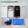 White Full Set Housing for sumsang galaxy S4 i9505 Front Frame+Middle Frame+Back Battery Cover+Home Button +LCD glass+ Tools