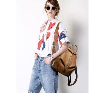 Image 3 - 2019 frauen Leder Rucksäcke Für Mädchen Hohe Qualität Vintage Damen Bagpack Weibliche Sac a Dos Casual Daypack Mochilas Zurück Pack