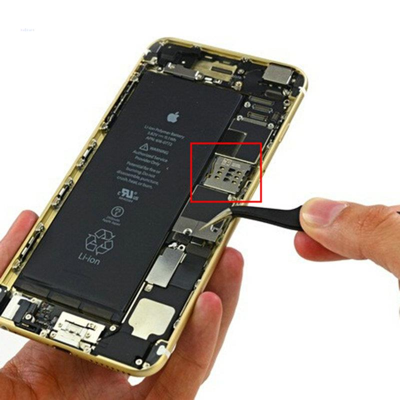 uk availability 162ce 2725f US $1.36 |For iPhone 6 4.7'' 5.5'' Plus SD SIM Card Slot Reader Holder  Connector Socket Part SIM Card Slot Module-in Sim Card Readers & Backup  from ...