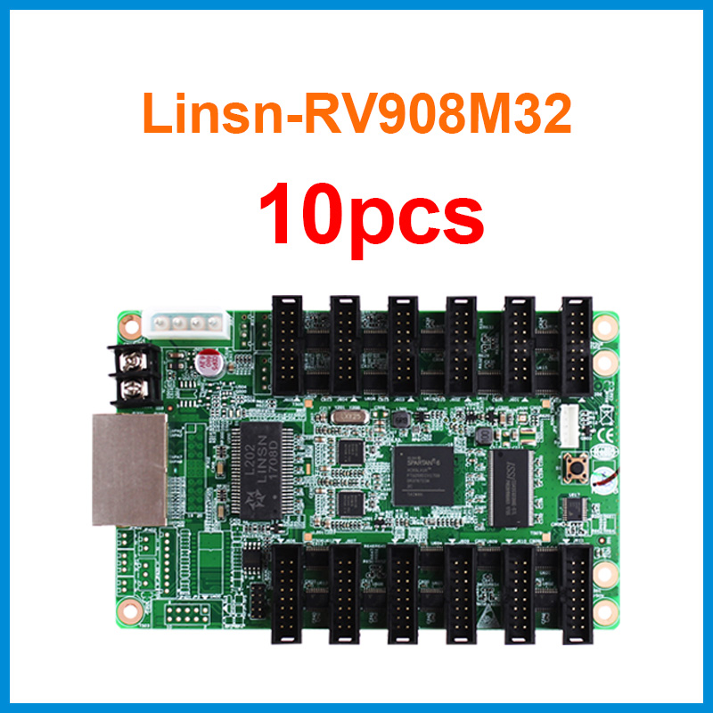 10pcs Linsn RV908 RV908M32 Led Video Display Receiving Card 12xHub75 Ports Support P2/P2.5/P3 Indoor 1/32 Scan LED Module