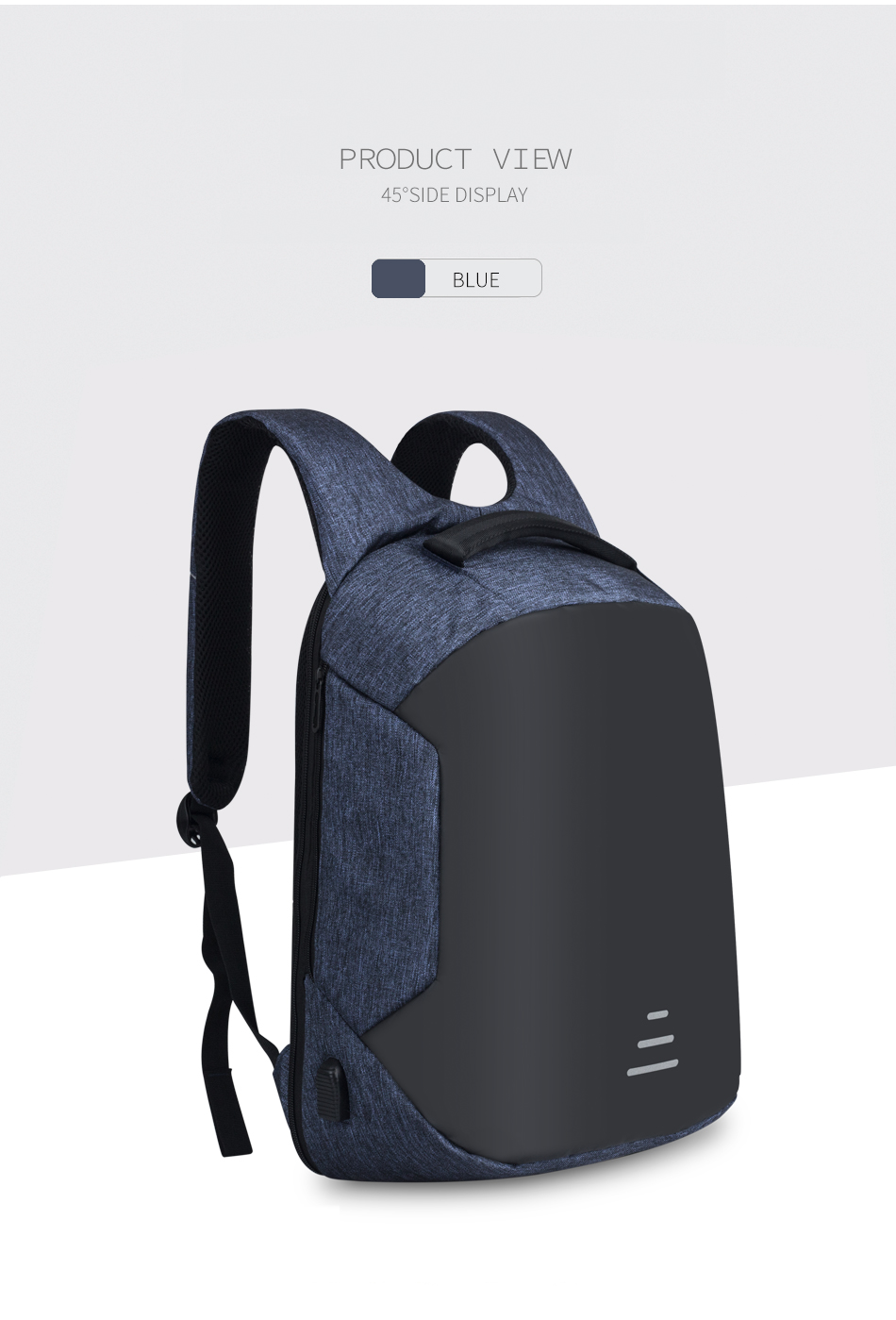 Anti Theft Business Laptop Backpack with USB Charging