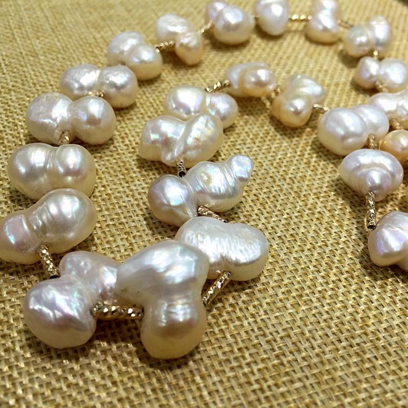 Moda 4mm Facetado Piedra Preciosa Y Blanco Perla Barroca Collar 18 pulgadas AAA
