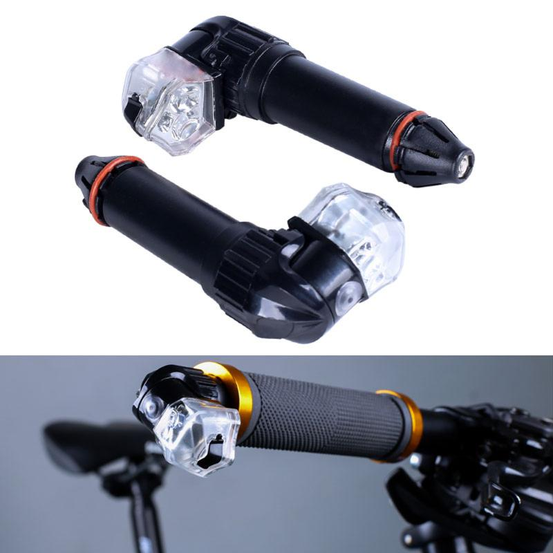 1 Pair Rechargeable Road Bicycle Handlebar LED Warning Light MTB Bike Bicycle End Plug Turning Signal Light Safe Warning Light