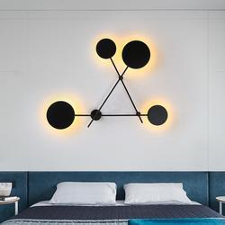 220V Nordic salon kinkiet nowoczesny minimalistyczny kutego żelaza okrągły klatka schodowa lampa projektant lampka nocna do sypialni|Lampy ścienne|   -