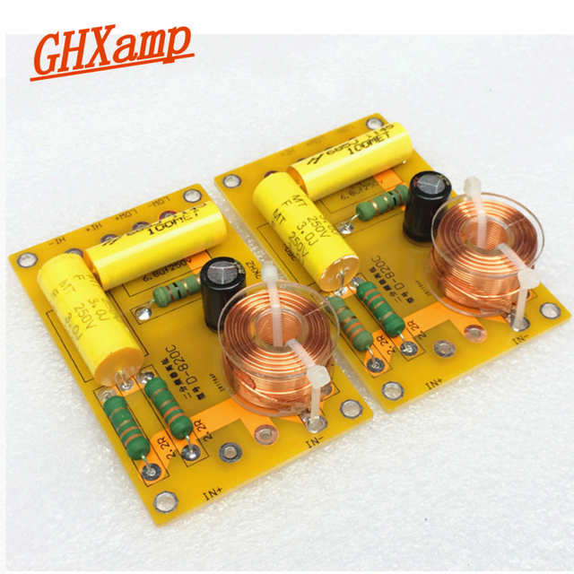 US $14 1 17% OFF|GHXAMP 2018 NEW 2 Way Crossover Audio Board Tweeter BASS  Speaker Frequency Divider For 4 INCH 8 INCH Speaker Filter 250W 2PCS-in
