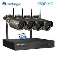 Techage 960P 1 3MP Wireless CCTV System 4ch 1080P HD Wifi NVR Bullet CCTV IP Camera