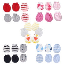 1 Set 3Pairs Fashion Baby Anti Scratching Gloves Newborn Protection Face Cotton Scratch Mittens High Quality New