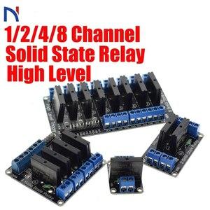 Твердотельный релейный модуль, 1/2/4/8 канала, твердотельный релейный модуль, PCB, SSR, AVR, DSP, 5 В, DC, 240 в, AC, 2A, для комплекта Arduino Diy