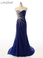 Robe De Soiree New Long Evening Dress Half Sleeves Mermaid Floor Length Prom Dresses 2017 Plus