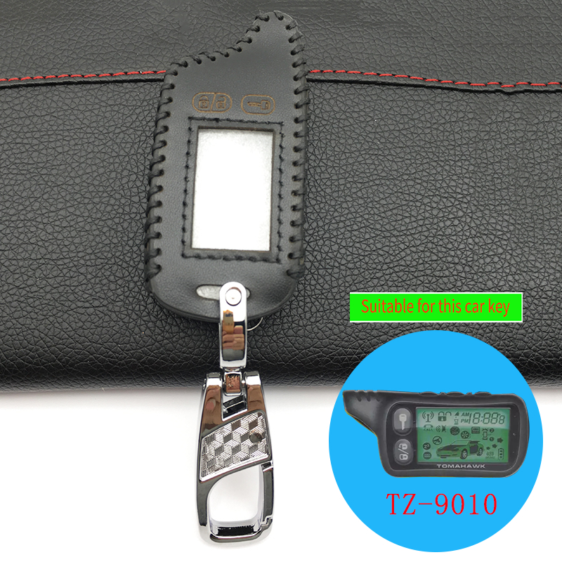 2018 Fashion Style 5 Buttons Leather Case Cover For Tomahawk TZ9010 TZ9030 Remote LCD Only Tomahawk TZ 9010 In Two-Way Car Alarm tomahawk tz 7010