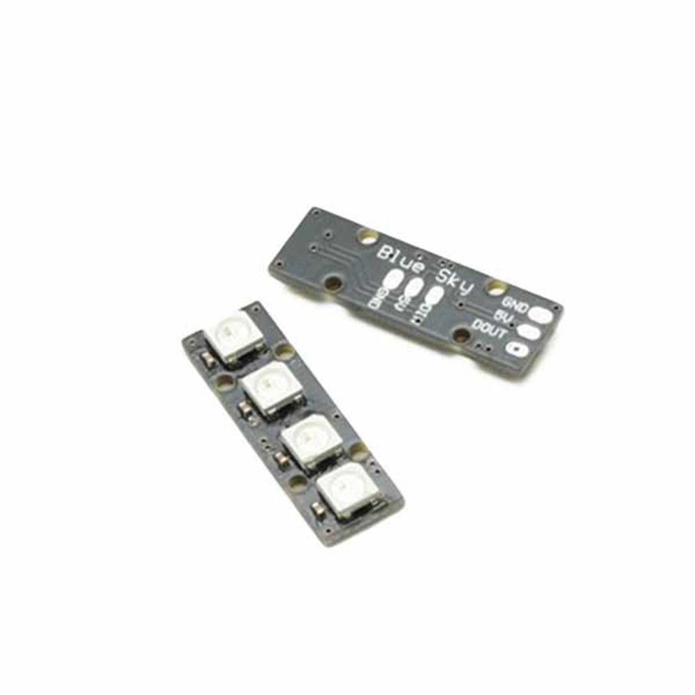 4 Pcs Matek System 2812arm-4 5v Ws2812 Led Strip Rc Night Light W/ 4 Lamps For Rc Drone Fpv Racing Excellent In Cushion Effect Toys & Hobbies
