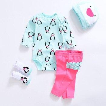 2018 Baby clothing sets Newborn baby boy girl clothes cotton long sleeve cute  O-neck unisex infant clothing