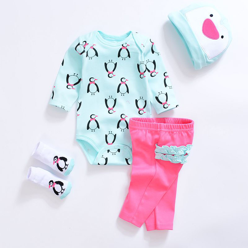 2018 Baby clothing sets Newborn baby boy girl clothes cotton long sleeve cute  O-neck unisex infant clothing 2pcs baby boy outfit set summer 2017 cute newborn baby sets infant girl clothing suits short sleeve cotton toddler baby girl set
