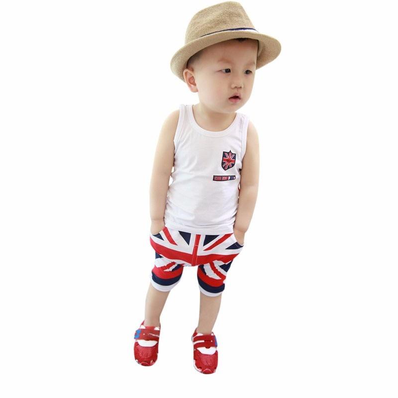 Mode D'été Bébé Garçons Vêtements Ensembles Roupas Infantile 7