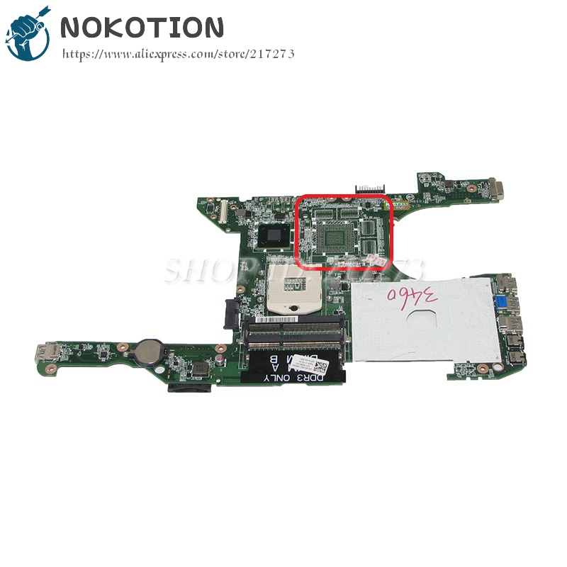 NOKOTION CN-0JK5GY 0JK5GY JK5GY DA0V08MB6D1 Laptop Motherboard For dell Vostro 3460 V3460 Main Board HD4000 DDR3 nokotion laptop motherboard for dell vostro 3500 cn 0w79x4 0w79x4 w79x4 main board hm57 ddr3 geforce gt310m discrete graphics