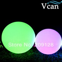 Big Size white plastic 16colours change remote control LED Light Ball outdoor 40cm VC B400