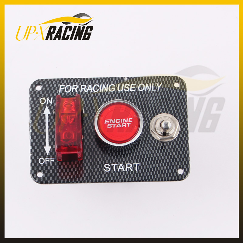 HOT SALE Car Accessory 12V LED Toggle Ignition Switch Panel Engine Start Push Button For Racing Car