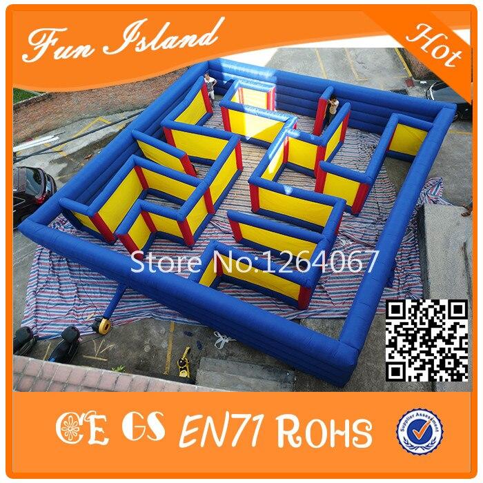 Grote Outdoor Labyrint Games Opblaasbare Doolhof Speelgoed Voor Koop, Fun Games Opblaasbare Puzzel Doolhof Spelletjes Voor Kinderen En Volwassenen - 3