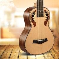 SevenAngel 26 Inch Tenor Ukulele Ingrid Spruce Grape Style Sound Hole 4 Stings Mini Guitar Acoustic