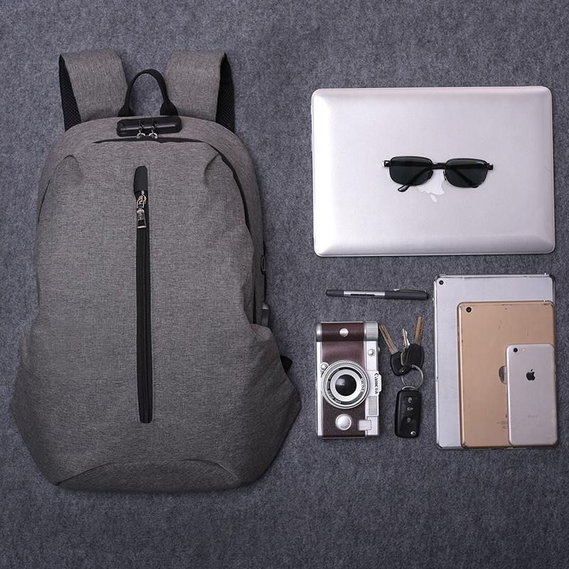 2018 Casual Mens USB Charging Backpacks Male Travel Women Teenagers Unisex Student School Bags Simple Notebook Laptop Backpack