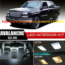 Free Shipping 16Pcs/Lot car-styling Xenon White Canbus Package Kit LED Interior Lights For 02-06 Chevy Avalanche