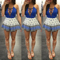 Foreign Products Women Lace Jumpsuit Bandage Shorts Jumpsuit Elegant Beach Clothing Rompers Playsuits
