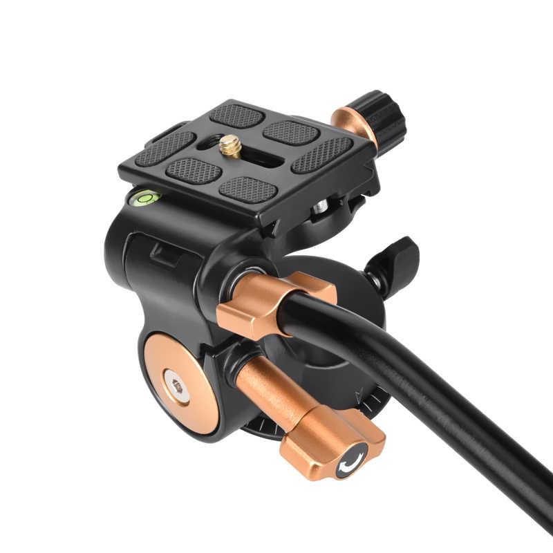 QZSD Q08S Pro 3 way камера штатива алюминий сплав демпфирования panhead с 1/4 ''винт длинные handel 360 градусов панорамный выстрел