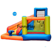 Детская игровая площадка, домашний батут с ремнем, мультяшный спортивный батут, детский надувной батут, прыгающий замок для ребенка