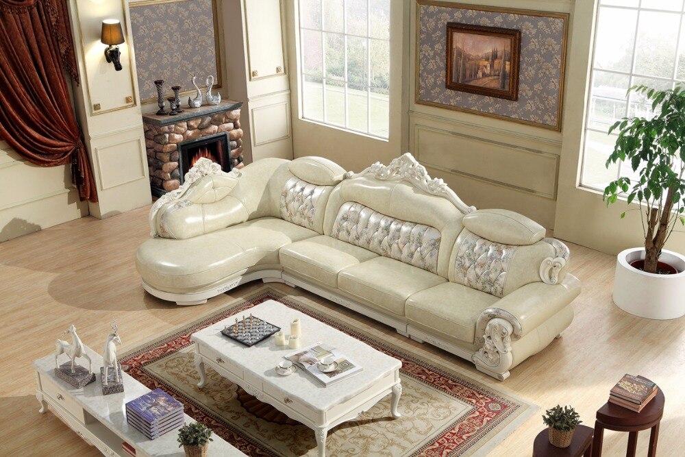 Amerikanischen Ledercouchgarnitur Wohnzimmer Sofa In China L Form Ecksofa Holzrahmen