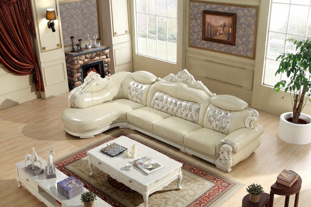 American leather sofa set living room sofa made in China L shape ...
